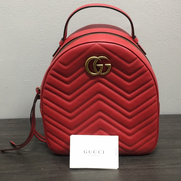 Gucci Handbags - Gucci Backpack RED
